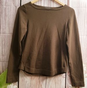 Ann Taylor Rounded Neck Pullover Sweater Top M